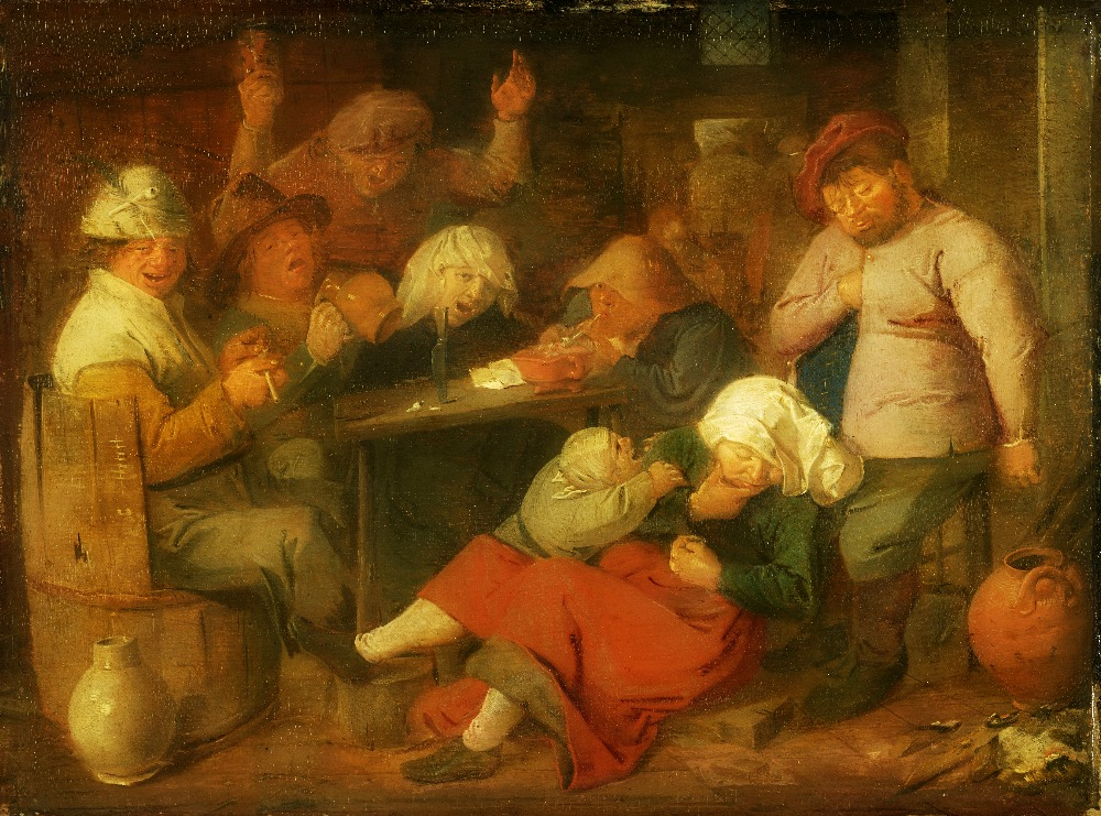 Adriaen Brouwer, Inn with Drunken Peasants, circa 1625-1626 (1620-1638)